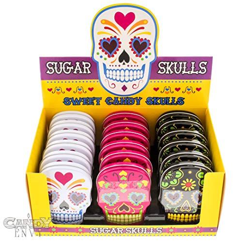 Dia Tin - Sugar Skulls Candy Filled Tins - Dia De Los Muertos Hard Candy - Include