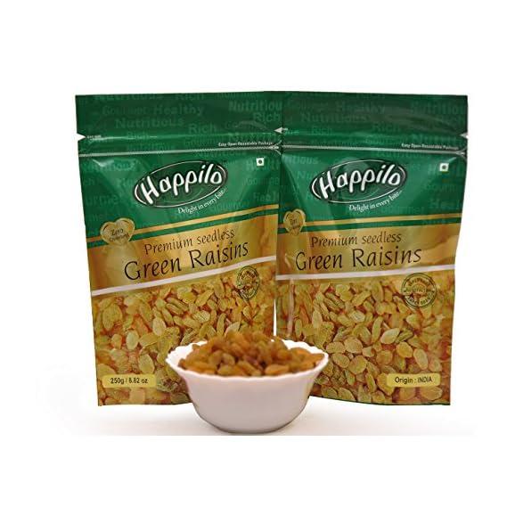 Happilo Premium Seedless Raisins, 250g (Pack of 2)