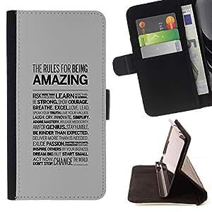 Momo Phone Case / Flip Funda de Cuero Case Cover - TIPOGRAFÍA increíble - Samsung Galaxy S6 EDGE