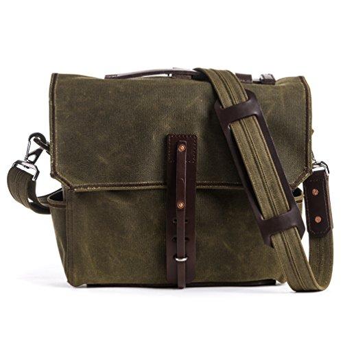 Saddleback Leather Mountainback Medium Gear Bag Moss Green (Saddleback Leather Bag)