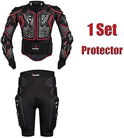 Akaufeng Motorrad Protektorenjacke Mit Getriebe Kurzen Hosen Protektorenhemd Motorrad S 5xl Bekleidung