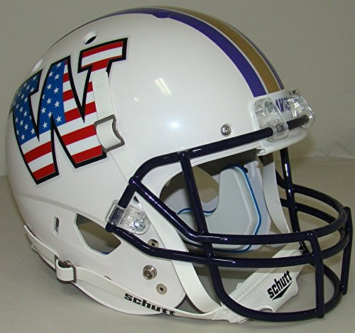 - Schutt NCAA Washington Huskies Replica XP Football Helmet, Patriotic Alt. 4