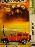 hummer h3 toy car - HUMMER H3 Matchbox 2007 MBX Outdoor Adventure 1:64 Scale Die Cast Metal Car # 83 - Orange Sport Utility Vehicle SUV HUMMER H3
