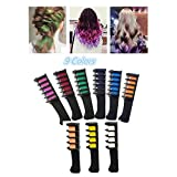 Botrong Temporary Hair Chalk Comb - Non Toxic Washable Hair Color Comb for Hair Dye - Safe for Kids for Party Cosplay DIY (9 Color)