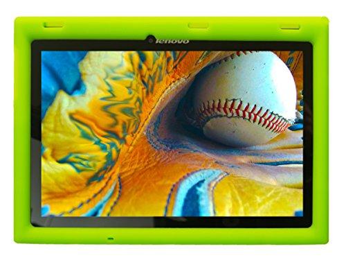Bobj Rugged Case for Lenovo Tab 2 A10-70, A10-70F and Lenovo Tab 3 TB3-X70L, TB3-X70F - BobjGear Custom Fit - Patented Venting - Sound Amplification - Kid Friendly (Gotcha Green) Not for TB-X103F