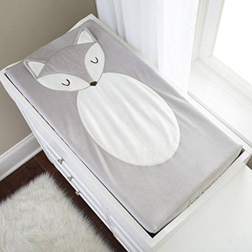 Levtex Baby Grey Fox Changing Pad Cover by Levtex Baby