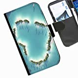 Hairyworm - Love LG G3 (D855, D850, D851) leather side flip wallet cell phone case, cover