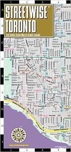 Streetwise Toronto Map Laminated City Center Street Map Of