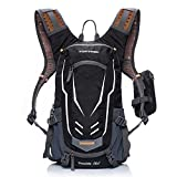 TOPTREK Cycling Backpack Waterproof for Men and Women Mountain/Road/Street Bike Hydration Bladder Bike Packs with Rain Cover