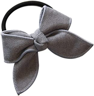Women Girls Suede Bow Hair Band Female Kids Children Teens Hair Rope Tie Bow Rubber Band Ring