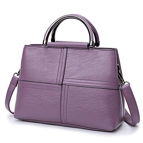 Aoligei Señora bolso versión coreana moda mujer bolso retro madre bolsa marea las mujeres hombros bolsa satchel oblicua cientos B