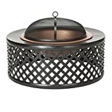 Safavieh Outdoor Collection Jamaica Fire Pit, Copper and Black