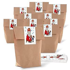 25 Kleine marrón cruz de suelo bolsas de bolsas de papel ...