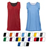 Reversible Basketball Tank Mesh Jersey Uniform (16 Colors in Youth, Adult & Ladies Sizes)