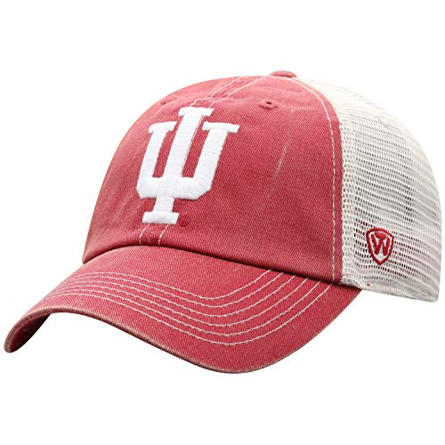 Top of the World Indiana Hoosiers Men's Vintage Hat Icon, Cardinal, Adjustable