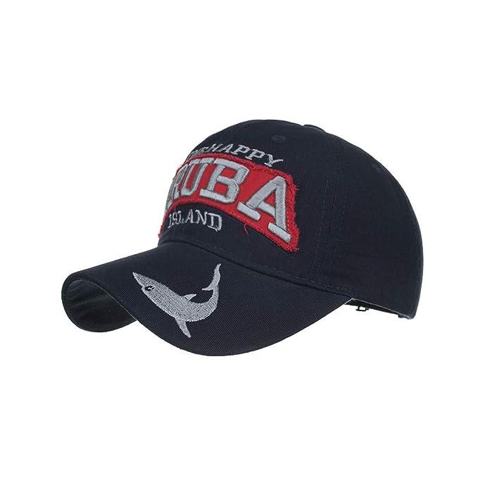 Honestyi Unisex Gorras Beisbol para Hombre Mujer Bordado Ajustable Casquillo de Verano Sombreros Malla Casuales Sombreros Hip Hop Motocicleta Tapa Mezclilla ...