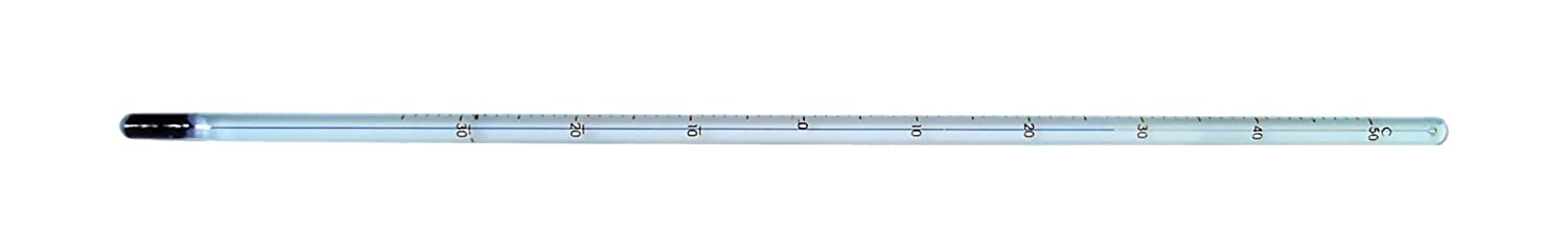 -10 to 150/°C Range 203mm Length Thermco Products Inc. Thermco B8TC1502BLS ACCU-SAFE General Laboratory Blue Spirit Filled Non-Toxic Thermometer 1/°C Division 50mm Immersion