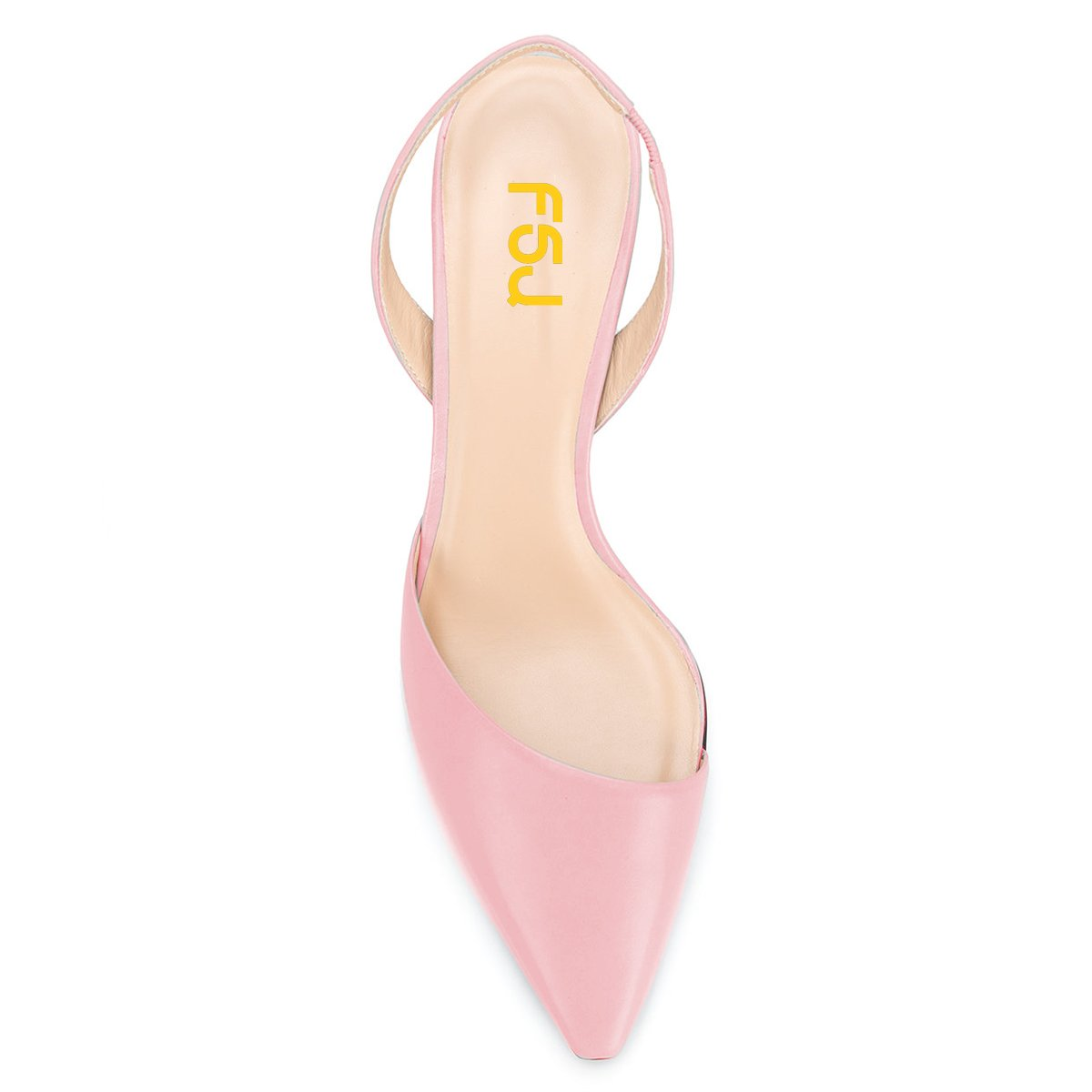 FSJ Women Classic Pointy Toe Pumps Chunky Mid Heels Slingback Sandals Comfortable Shoes Size 4-15 US B07BXVS6XT 8 B(M) US Pink