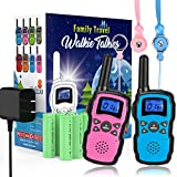 Wishouse Rechargeable Walkie Talkies for Kids with Charger Battery, Two Way Radio Family