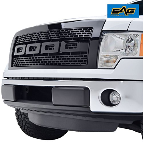 EAG 09-14 Ford F-150 Raptor Grille ABS Replacement Grill With Shell Glossy (Ford Truck Grill)