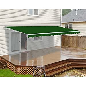 ALEKO AW8X6.5GREEN39 Retractable Patio Awning Sun Shade, 8x6.5 Feet, Green