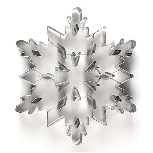 Funnytoday365 Stainless Steel Christmas Snowflake Shaped Mold Biscuit Tools Cookie Cake Mold Jelly Pastry Baking Cutter Mould Tool