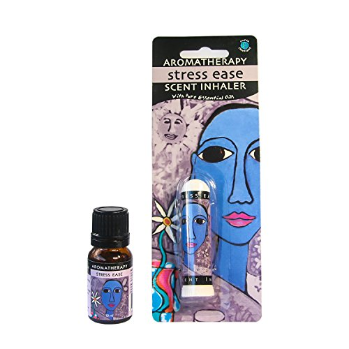 Earth Solutions Aromatherapy Kit Anti Depressant Inhaler Plus Essential Oils Blend 10ml Stress Less - Yoga Gifts | A Plant Derived Extract for Anxiety Relief