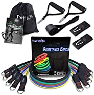 TheFitLife Exercise Resistance Band Set - Training Tubes with Door Anchor, Handles, Ankle Straps, Stackable Up