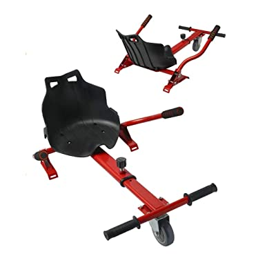 Longtime Universal Hoverboard Hovercart Seat Attachment with Adjustable Straps for Hoverboard Self Balancing Scooter (Red) : Sports & Outdoors