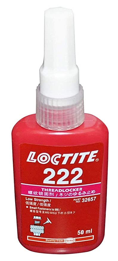 Liquid Glues & Cements Adhesives, Sealants & Tapes Bottles Of Loctite 222ms Small Screw Threadlocker 10 Mm Bottles 3