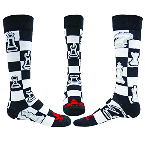 Price comparison product image Red Lion Checkmate Chess Novelty Knee High Sock ( Black - Medium / Large )