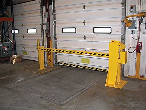 Dock Barricades for 8' Wide Door - BDJG-100 Series; Door Size: 8' x 8'; Operation: Mechanical; Overhead Clearance: 149''; Arm Height Lowered: 32''; Overall Size (W x L): 24'' x 133-1/4'' by Beacon World Class Products