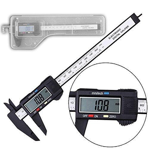 Merkmak Vernier Caliper 150mm Digital Electronic LCD Plastic Gauge Micrometer Ruler Carbon Fiber Measuring Tool