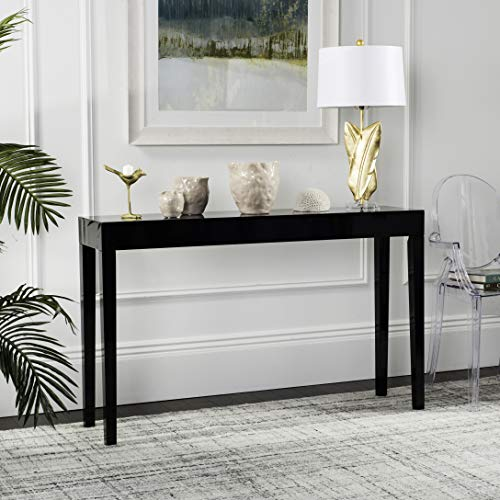 Console Black Table (Safavieh Home Collection Kayson Mid-Century Scandinavian Black Console Table)