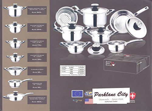 Swiss AMC fabricado cacerola calderos juego de ollas 12 piezas Cacerola de garantía embalaje de 1139,=GBP Saladmaster árido Healthy all-con revestimiento ...