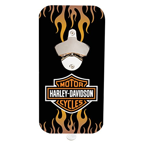 Cheap Harley Davidson Bar and Shield Flames Magnetic Clink N' Drink Bottle Opener
