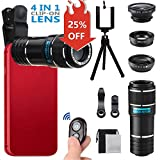 Best Smartphone Camera Lenses - Phone Camera Lens, MSDADA Telephoto Lens Kit, 12X Review