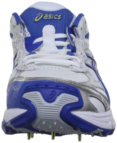 Asics Gel Strike Rate 2 M - Calzado de críquet Hombre White/Navy/Pitch Gold