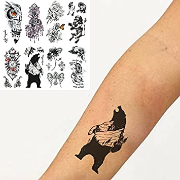 Amazon Com Oottati 8 Sheets Temporary Tattoo 3d Stickers Hand