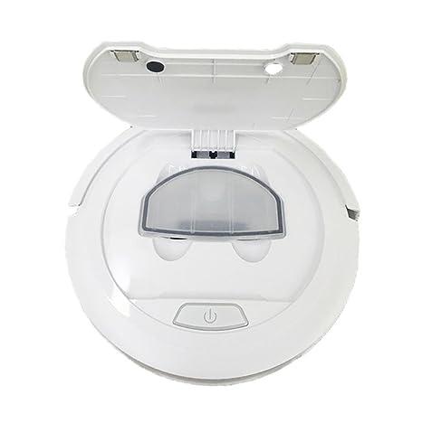 LIUSHUBarrer robot limpio y fregona automática casera inteligente aspiradora Slim mini, blanco
