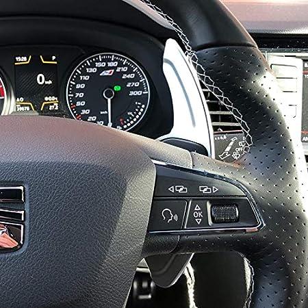 For Directivo de Audi A3 S3 A4 S4 S5 B8 A5 A6 A8 S6 R8 Q5 Q7 TT DSG Rueda de Coche del Cambio de Aluminio de extensi/ón Shifters levas de Cambio 2pcs Color : Rojo NO LOGO XJB-PULLERS