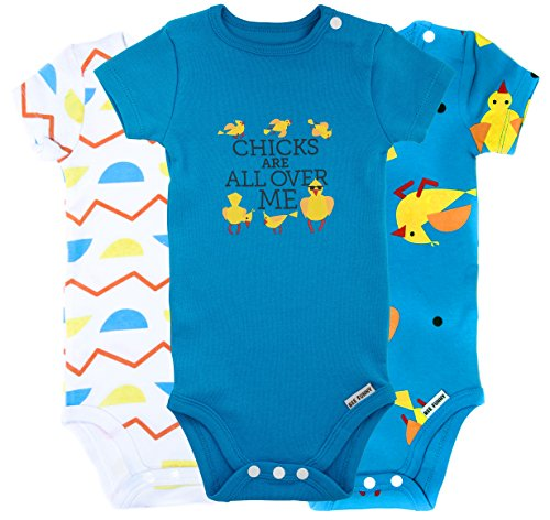 Bee Funny Baby Bodysuit 3 Pack | Chicks Are All Over Me, Turquoise, 0-3 months
