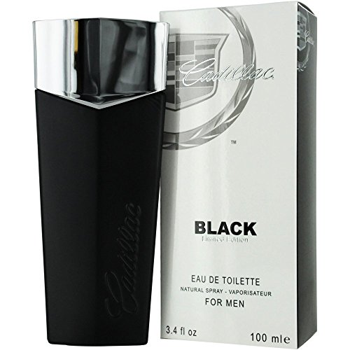 Cadillac Eau de Toilette Spray for Men, Black, 3.4 Ounce
