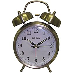 Westclox Alarm Clock 4 Quartz Movement Brushed Nickel Case Metal Case 1 Aa Battery
