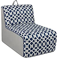 Kangaroo Trading Tween Lounger Loopy Navy/Pebbles Childrens Chairs
