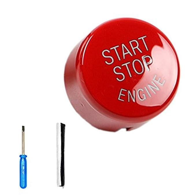 Bodbii ABS Coche de Motor de Arranque y Parada Interruptor de botón Cubierta para BMW E60 E70 E71 E90 E92 Accesorios para coche Accesorios para descapotable