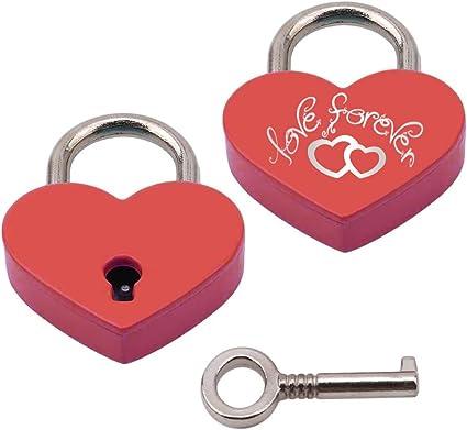 Personalisiertes Herzschloss Mit Gravur Auf der Vorderseite Als Liebesgeschenk Lila Liebesschloss In Herzform /♥