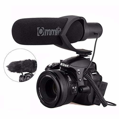 EACHSHOT CoMica Electrit Super-Cardioid Directional Condenser Shotgun Video Microphone for Video and Interview with Nikon Canon Sony Camera, Camcorder (3.5mm TRS Jack) Black by EACHSHOT