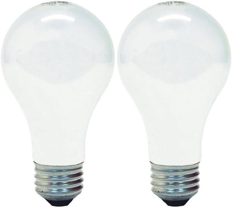 GE Lighting 63003 Soft White 43-Watt (60-watt replacement) 750-Lumen A19 Light Bulb with Medium Base, 2-Pack