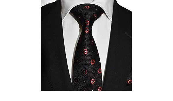 DXIUMZHP Corbatas Corbata Bordada Fiesta Corbata Seda ...